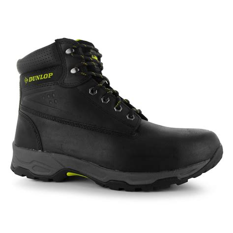 dunlop mens gents safety on site boots laces fastened