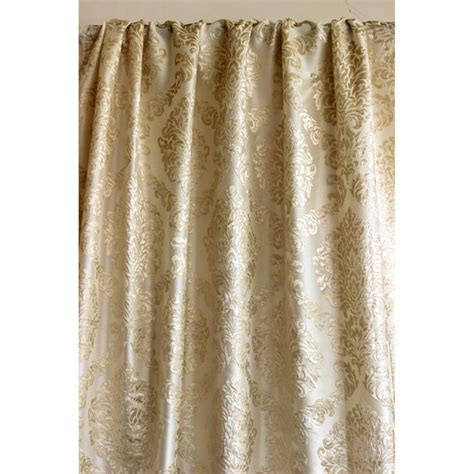damask velvet burnout curtain light gold n ivory damask burnout velvet curtain