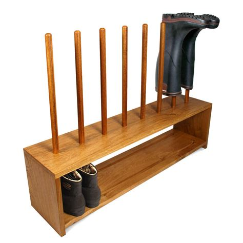 Shoe Rack For by Oak Wellington And Shoe Rack 4 Pair