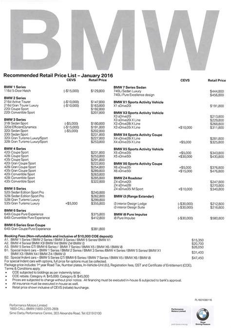 singapore motorshow 2016 bmw price list deals