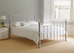 Chrome metal and crystal double bed frame excellent condition from