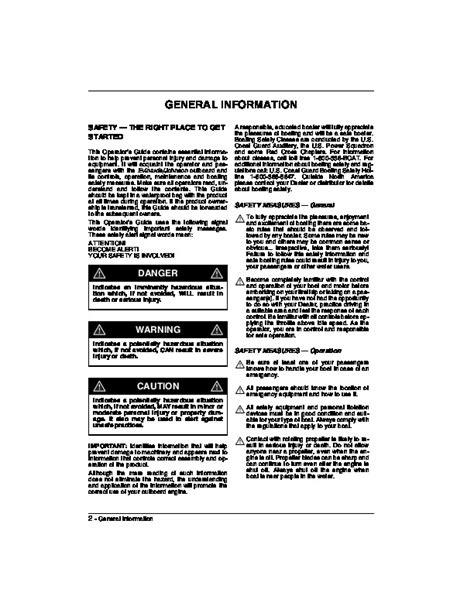 2006 Johnson 9.9 15 hp EL4 4-Stroke Outboard Owners Manual