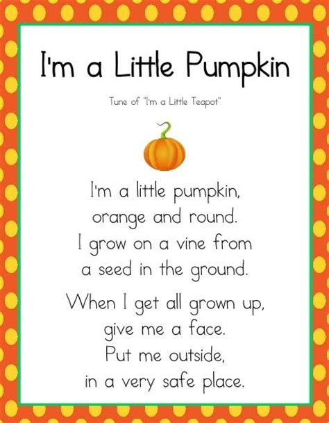 pumpkin poems i m a pumpkin poem copy work christian