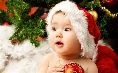 cute adorable baby santa wallpapers hd wallpapers id