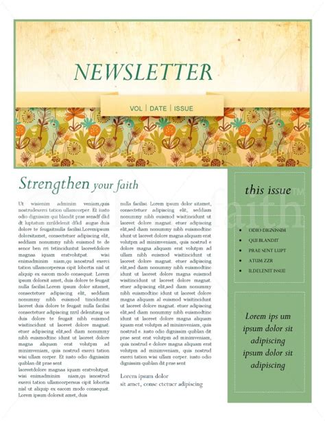 fall theme church newsletter template newsletter templates
