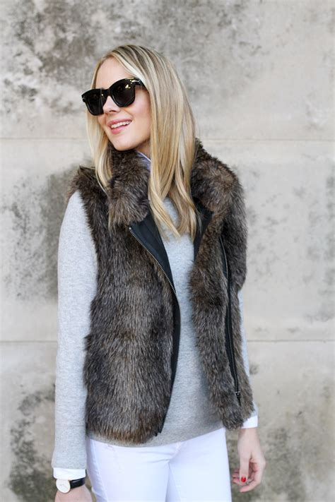 with fur vest faux fur vest fashion jackson