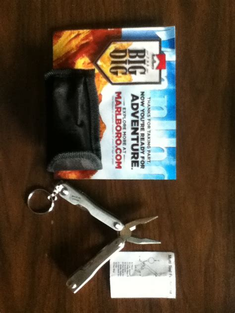Marlboro Com Sweepstakes - winner in the marlboro the big dig sweepstakes won a multi tool with pouch free