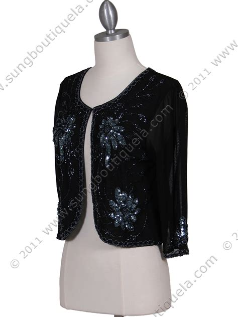beaded bolero jackets black beaded bolero jacket sung boutique l a