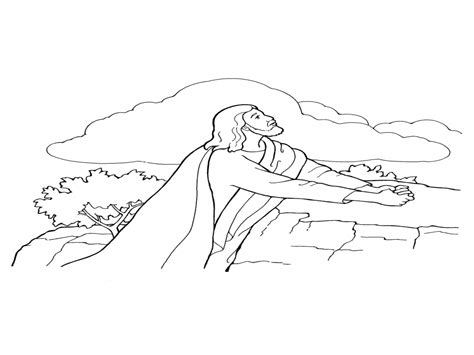 coloring page jesus in the garden garden of gethsemane coloring pages