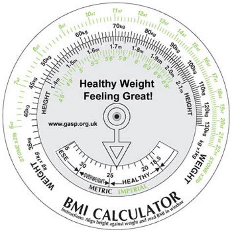 healthy weight feeling great bmi calculator wheel pack