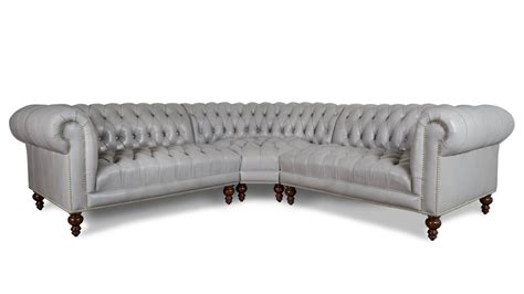 leather chesterfield sectional cococohome chelsea chesterfield radius corner leather