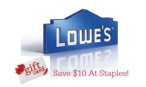 Staples Gift Card Deal - staples deal 100 lowes gift card for 90 southern savers