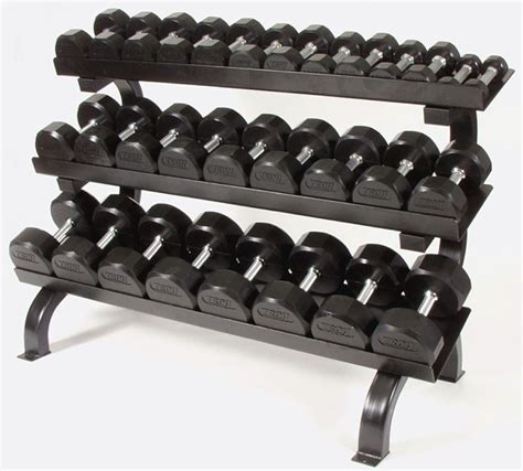 Dumbbell Weight Set With Rack troy barbell rubber encased dumbbell with rack set
