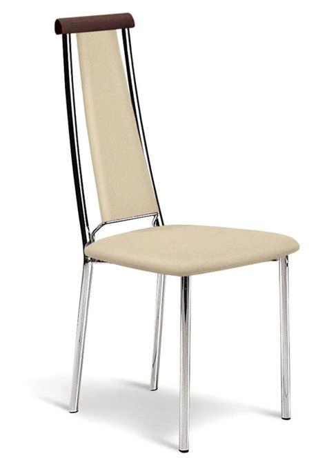 sedie in pelle per cucina sedia in metallo cromato e eco pelle per cucine idfdesign