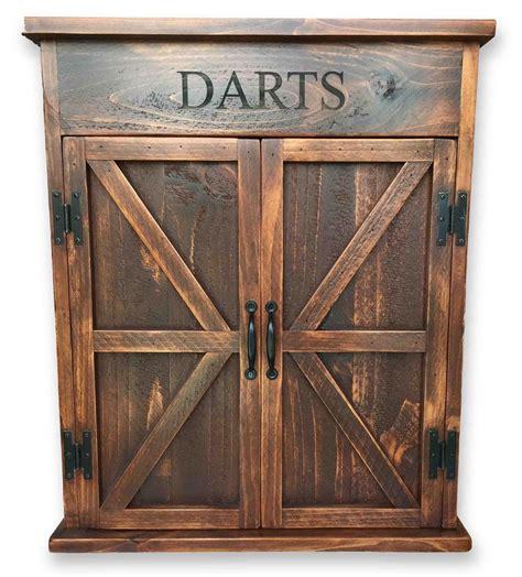 dart board with cabinet premium reclaimed wood dart board cabinet rustic wall co