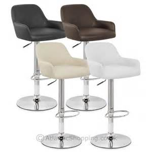 Padded Bar Stools Sassi Padded Faux Leather Kitchen Bar Stool Ebay