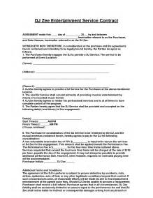 How To Make A Dj Contract by Entertainment Contract Agreement Images Dj Agreement Real State D And