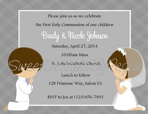 Custom Order 2 By Derma Prima communion invitation digital file 1st
