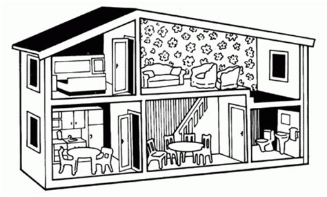 dolls house free printables doll house coloring pages