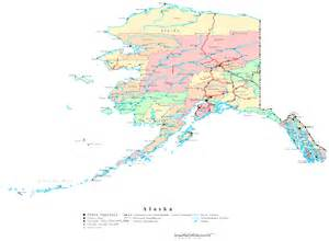 Map Alaska by Alaska Printable Map
