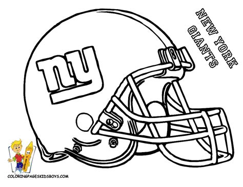 Ny Giants Free Printable Coloring Helmet Entertain Ny Giants Coloring Pages