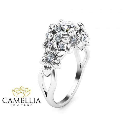 design flower ring flower designed diamond rings wedding promise diamond