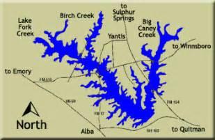 map of lake fork mustang resort big bass capital of