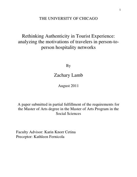statement of authenticity template rethinking authenticity in tourist experience
