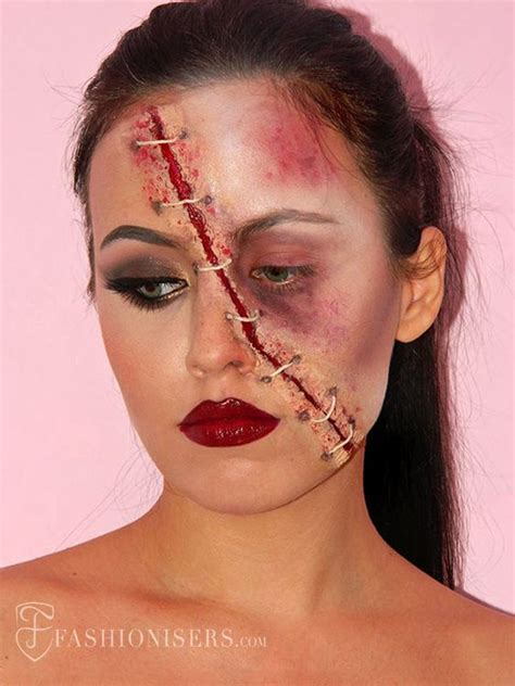 tutorial for zombie makeup half glam half zombie halloween makeup tutorial makeup