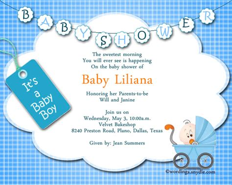 baby boy birthday invitation message baby shower invitation wording wordings and messages