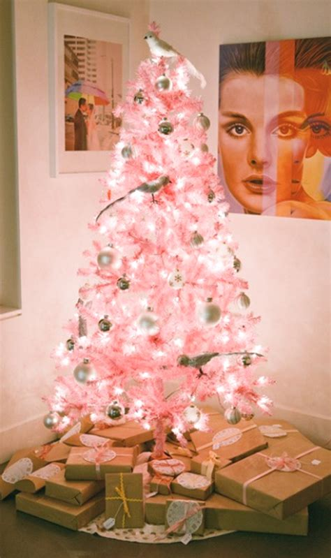 cute and beautiful pink christmas tree decorations