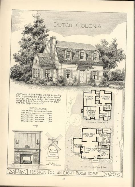 dutch colonial home plans 266 best images about vintage home plans on pinterest