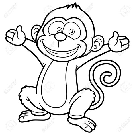 Monkey Outline Drawing At Getdrawings Com Free For Personal Use Monkey Outline Drawing Of Your Outline Pictures