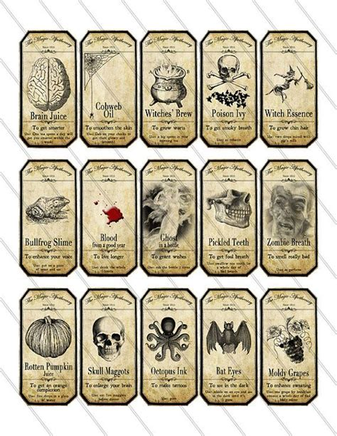 free printable small jar labels small halloween apothecary labels printable potion paper