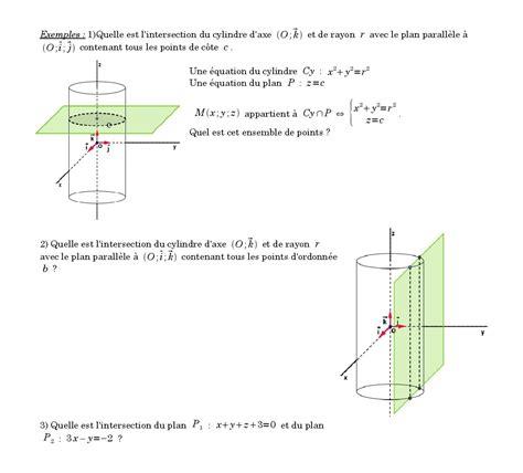 section planes sections planes cours de maths en terminale s sp 233 cialit 233
