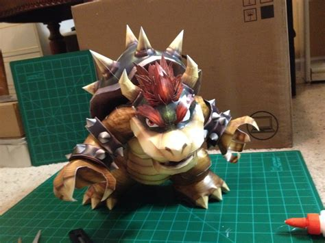Bowser Papercraft - bowser papercraft by icthuseven on deviantart