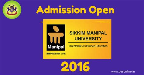 Admission For Distance Mba In Sikkim Manipal by Sikkim Manipal Directorate Of Distance