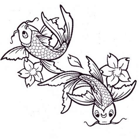 koi tattoo stencils printable tattoo stencils koi fishes and flowers tattoo