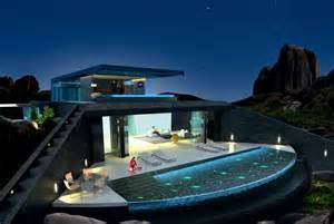 Home With Pool Home With Infinity Pool And Glass Bottomed Pool Rendered In 3d