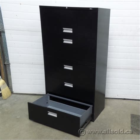 Locking Lateral File Cabinet Staples Black 5 Drawer Lateral File Cabinet Locking Allsold Ca Buy Sell Used Office