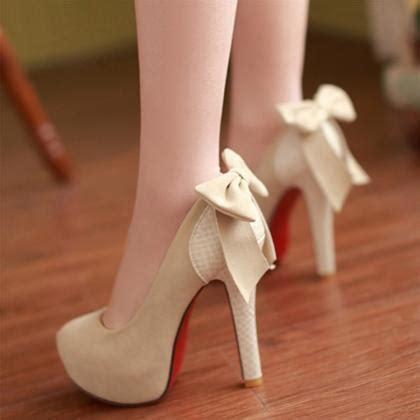 high heels with bows on the back bow back high heels on luulla