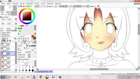 coloring anime with paint tool sai tutorial tutorial how to color anime skin paint tool sai