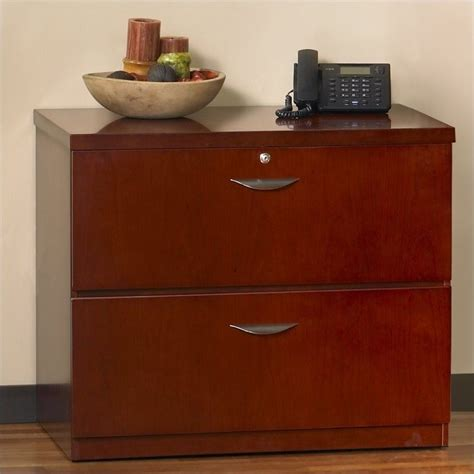 Lateral File Cabinet Cherry Features