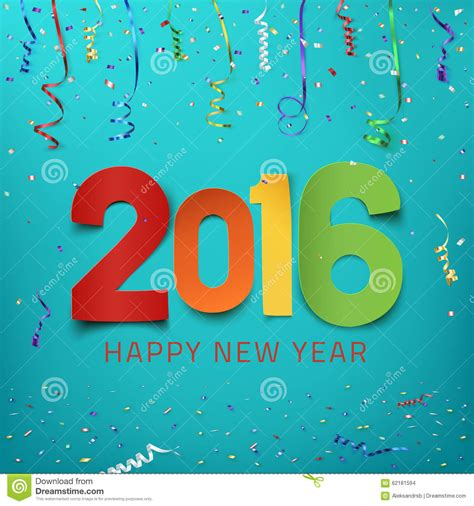 new year background paper happy new year 2016 colorful paper type stock vector