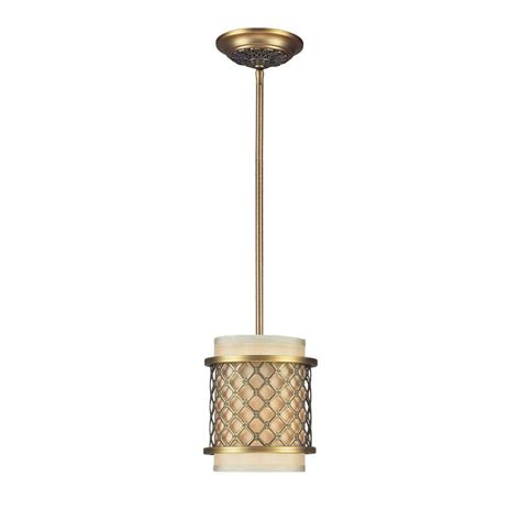 Brass Pendant Light Titan Lighting Chester 1 Light Brushed Antique Brass Ceiling Pendant Tn 7550 The Home Depot
