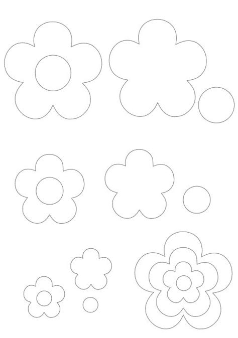 Friendship Flower Template friends of the felt template flowers desenhos