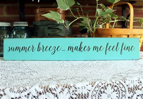 Summer Breeze Painted Wood Sign Wall Decor Beach Coastal