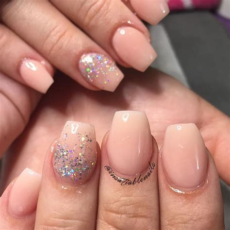 short coffin nails with a natural look essie s quot ladylike short coffin shapes nails nails pinterest natural