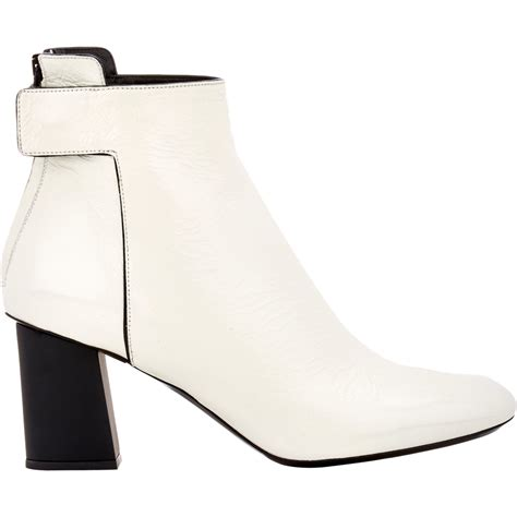 white boots proenza schouler s ankle boots in white lyst