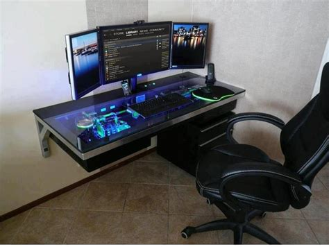 computer desks for geeks geek room man room ideas pinterest awesome